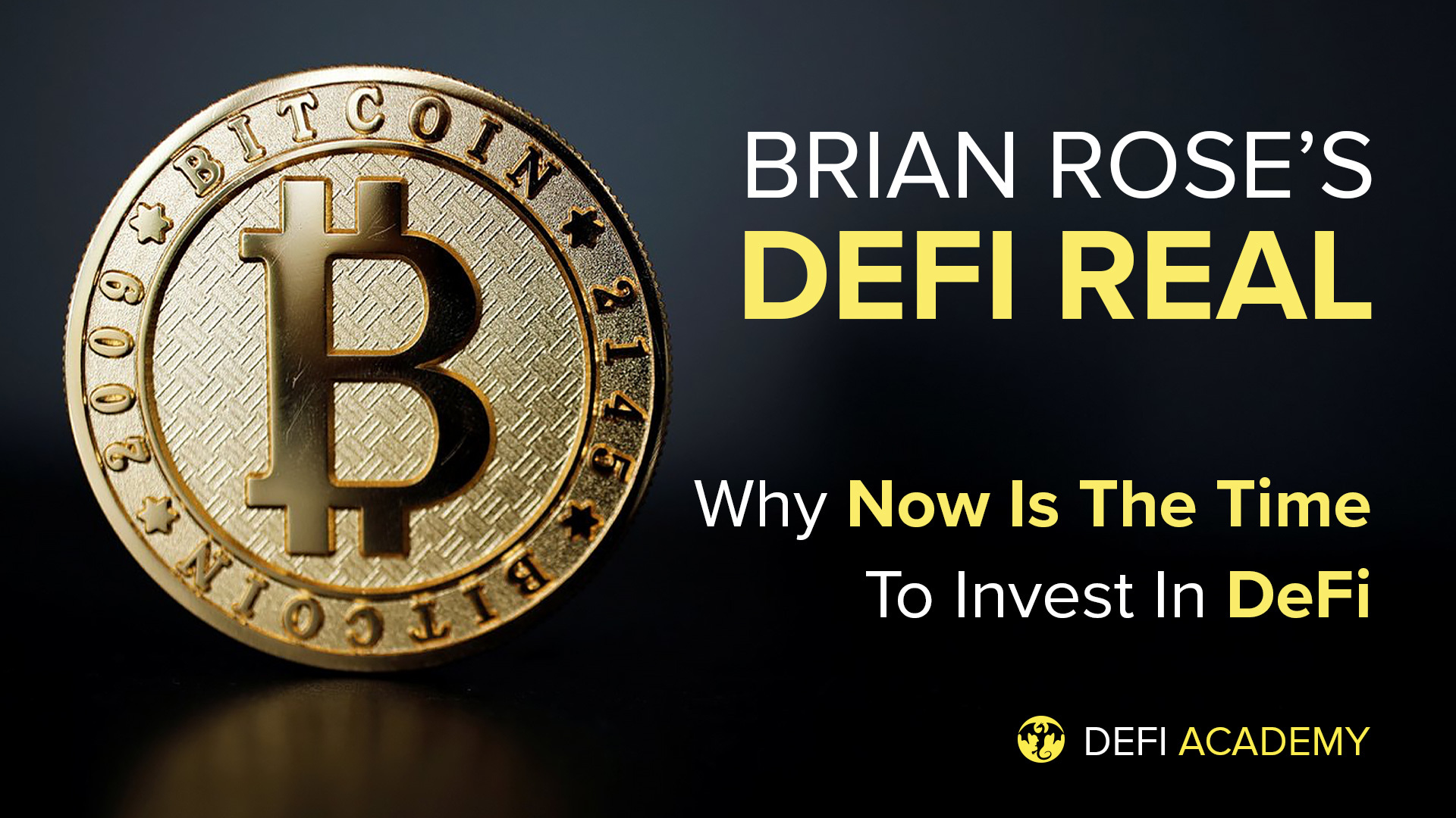 DeFi Real - Crypto Is Crashing: Why Now Is The Time To Invest In DeFi